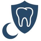 night guard for teeth icon blue | Peak Dental Arts - North Vancouver